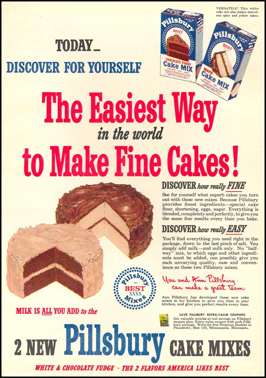 PILLSBURY CAKE MIXES WOMAN'S DAY 08/01/1949 p. 15