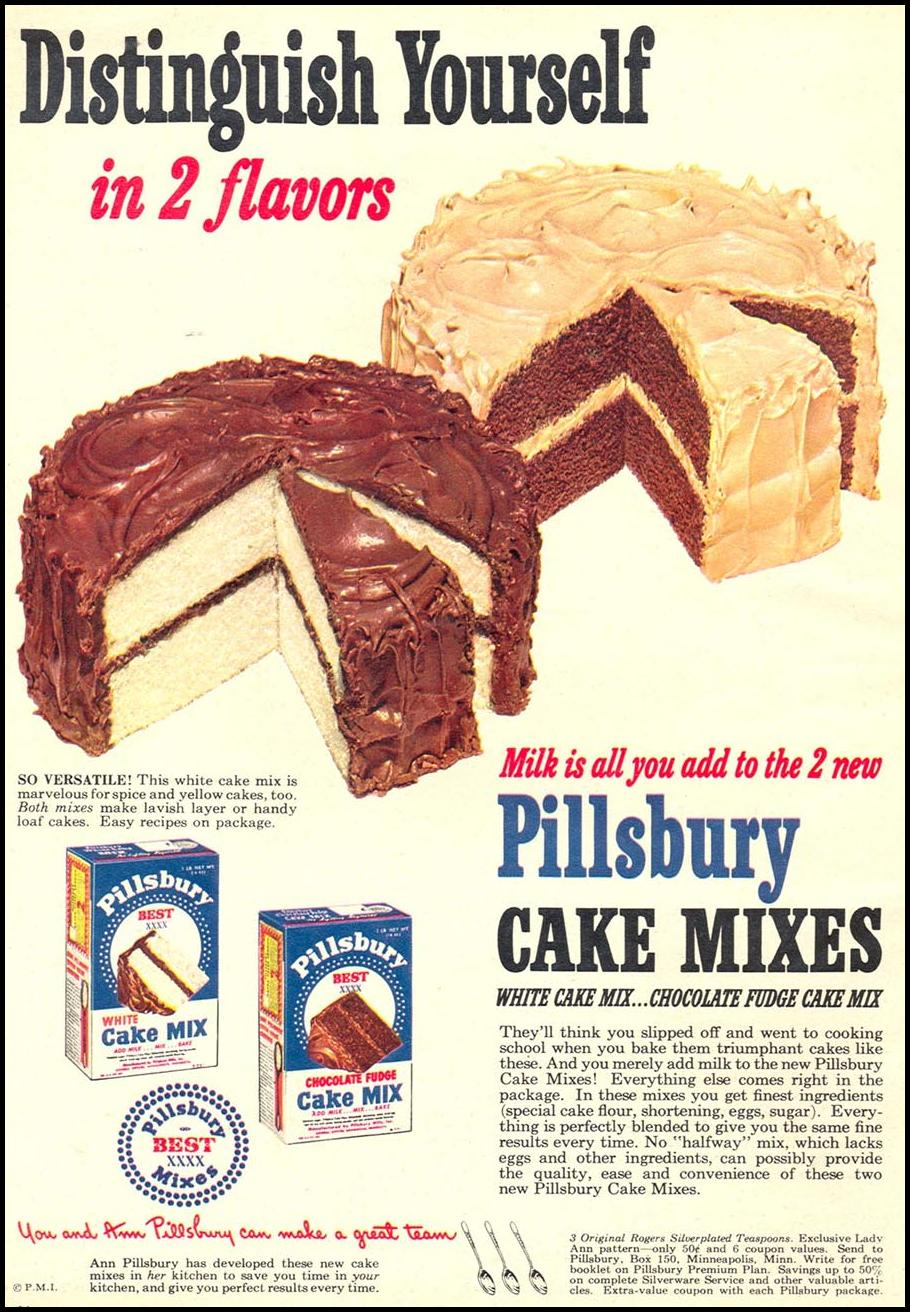 PILLSBURY CAKE MIXES WOMAN'S DAY 09/01/1949 p. 16