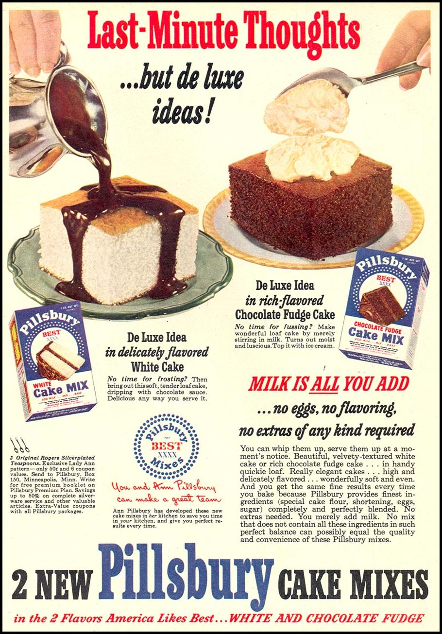 PILLSBURY CAKES MIXES WOMAN'S DAY 10/01/1949 p. 73