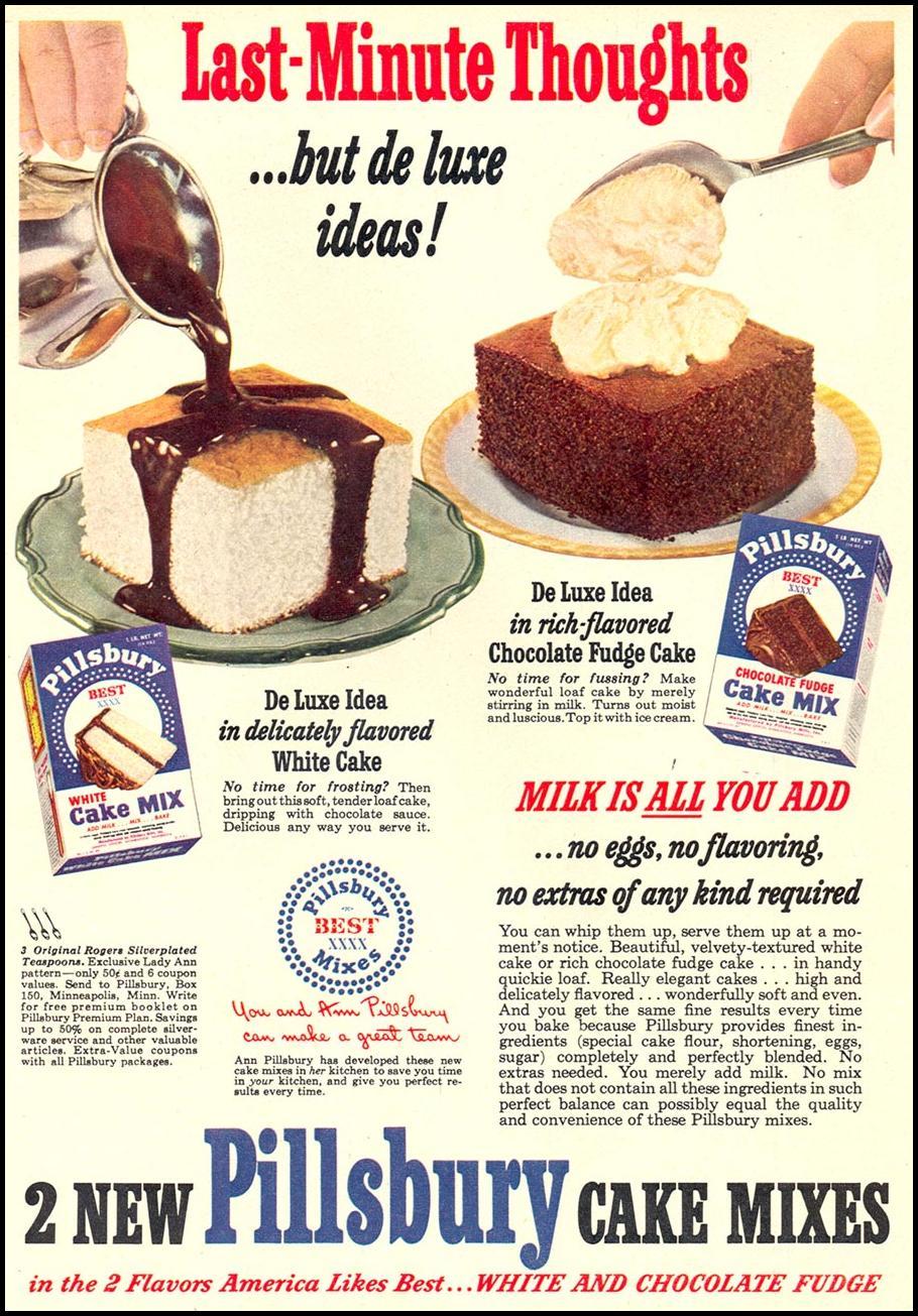 PILLSBURY CAKES MIXES WOMAN'S DAY 10/01/1949 p. 73