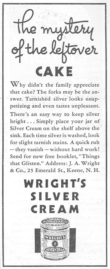 WRIGHT'S SILVER CREAM GOOD HOUSEKEEPING 06/01/1935 p. 199