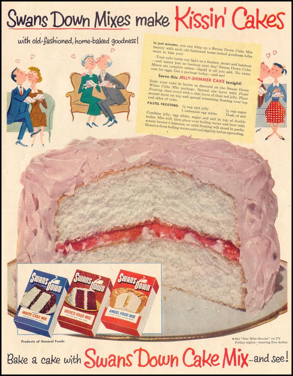 SWANS DOWN CAKE MIXES LIFE 02/02/1953 p. 67