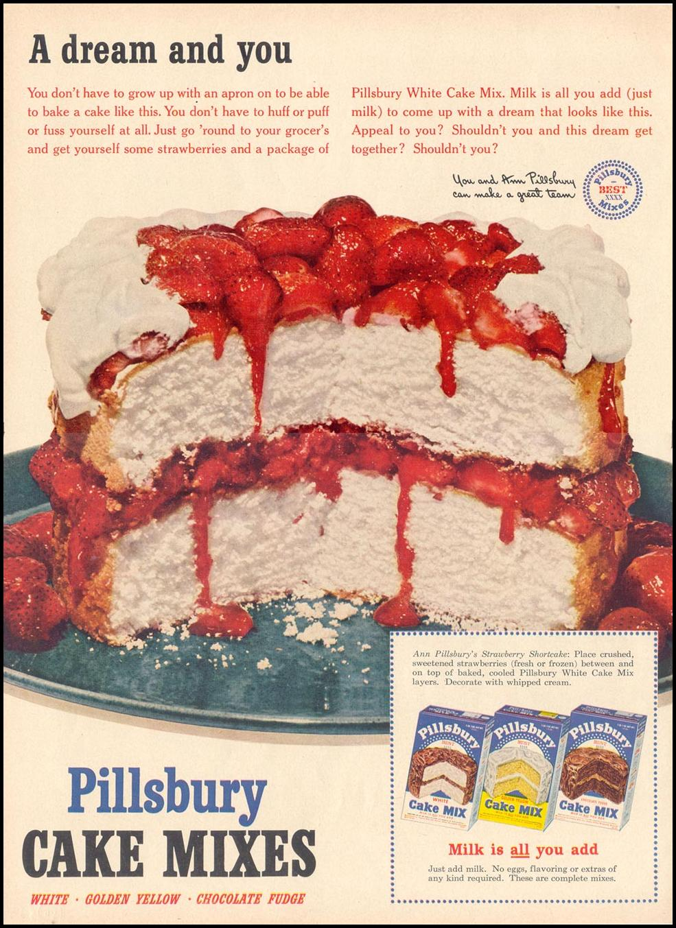 PILLSBURY CAKE MIXES LIFE 06/16/1952 p. 54