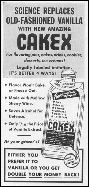 DOLAN'S CAKEX IMITATION VANILLA FLAVOR WOMAN'S DAY 05/01/1943 p. 83