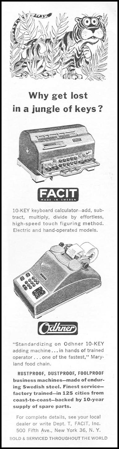 FACIT 10-KEY KEYBOARD CALCULATOR TIME 06/08/1953 p. 80