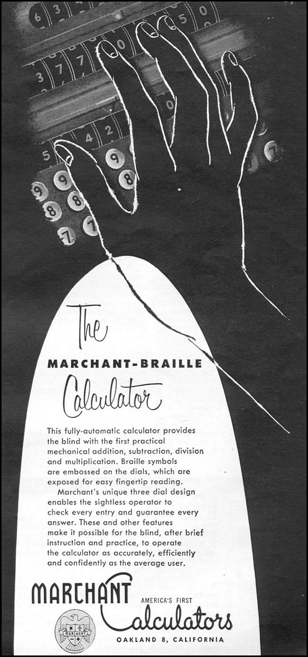 THE MARCHANT-BRAILLE CALCULATOR TIME 06/08/1953 p. 89