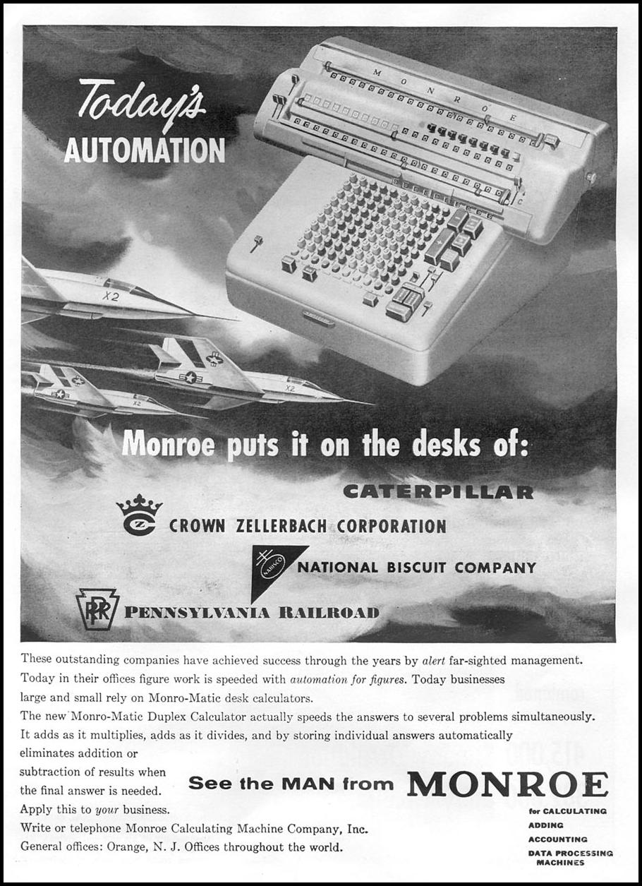 MONRO-MATIC DESK CALCULATORS TIME 09/17/1956 p. 47