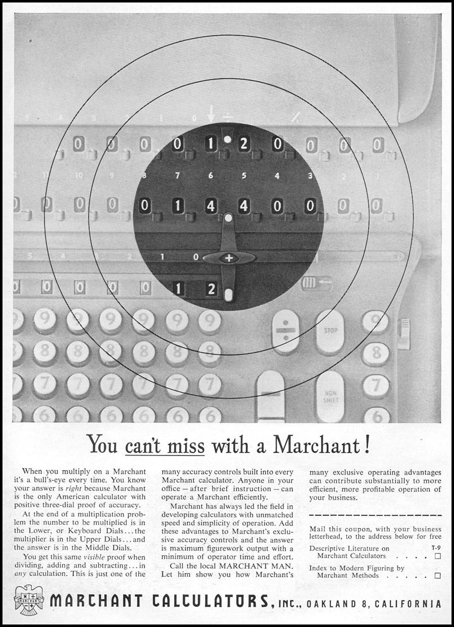 MARCHANT CALCULATORS TIME 09/17/1956 p. 95