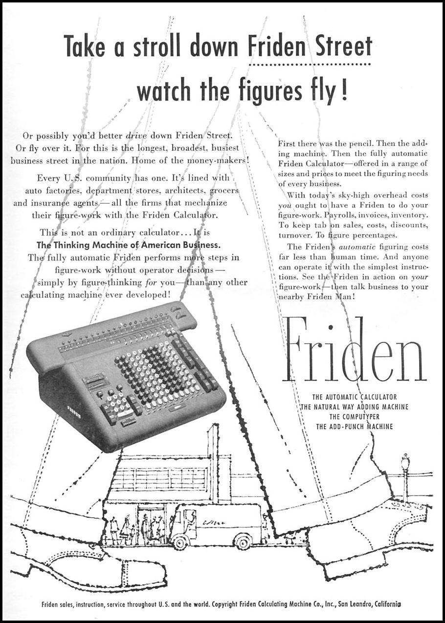 FRIDEN AUTOMATIC CALCULATORS TIME 09/17/1956 p. 119