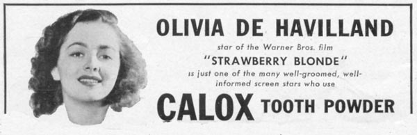 CALOX TOOTH POWDER WOMAN'S DAY 04/01/1941