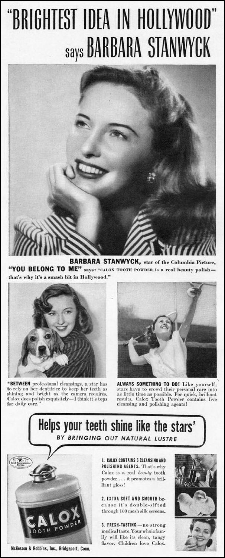 CALOX TOOTH POWDER LIFE 09/29/1941 p. 90