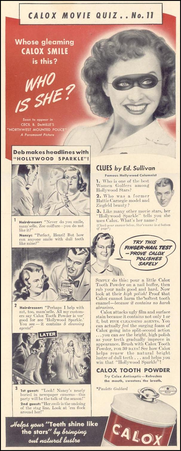 CALOX TOOTH POWDER LIFE 09/30/1940 p. 72