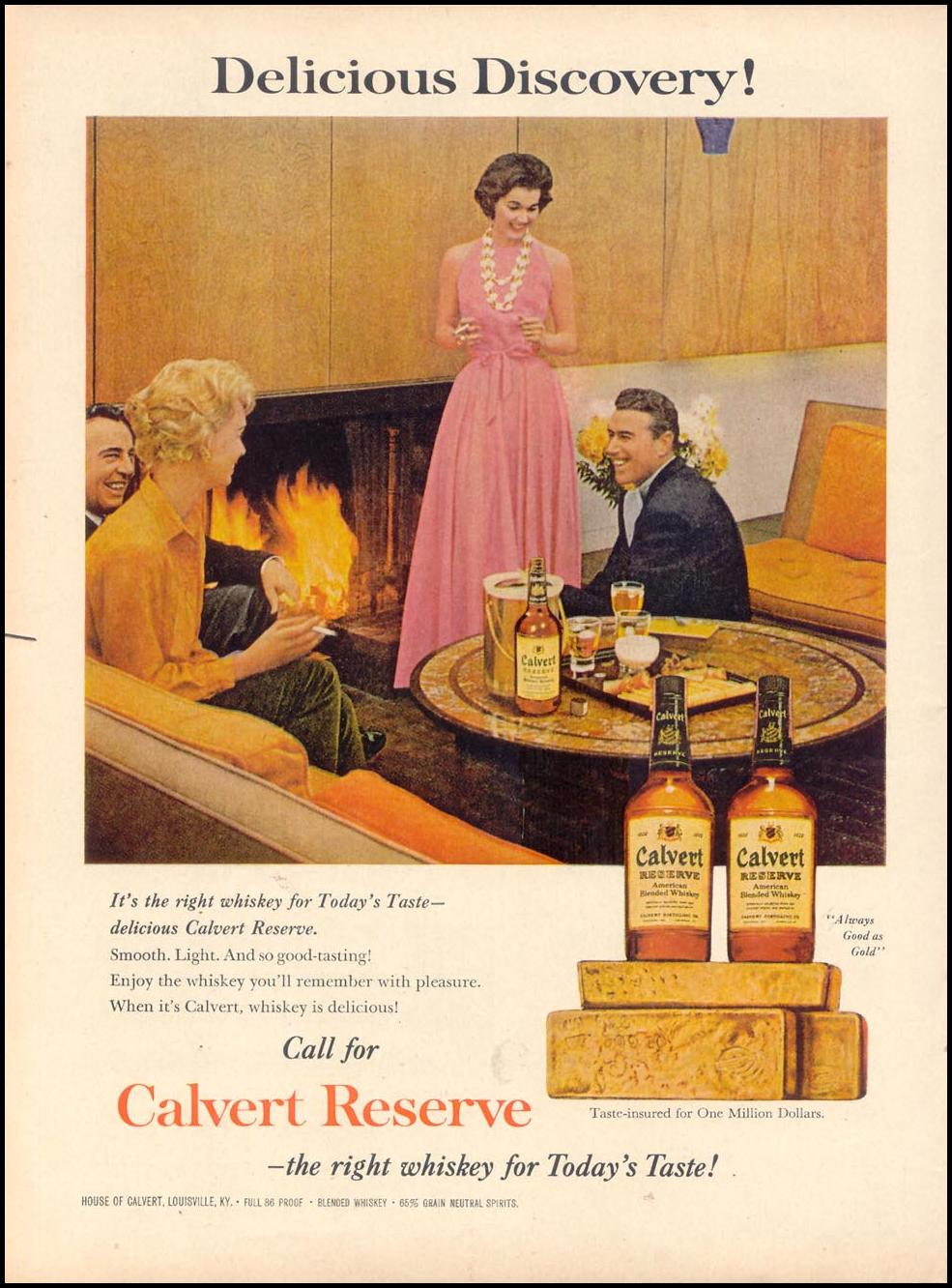 CALVERT RESERVE WHISKEY TIME 11/17/1961