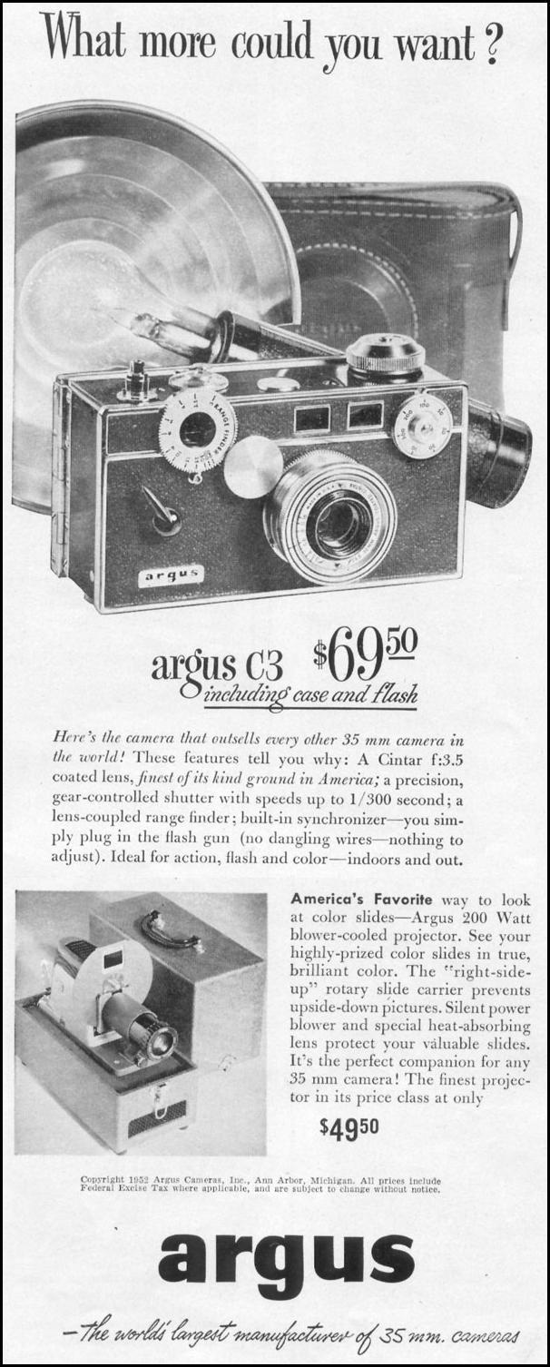 ARGUS CAMERAS LIFE 06/16/1952 p. 46