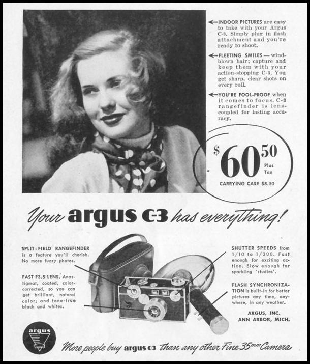 ARGUS CAMERAS LIFE 10/11/1948 p. 54