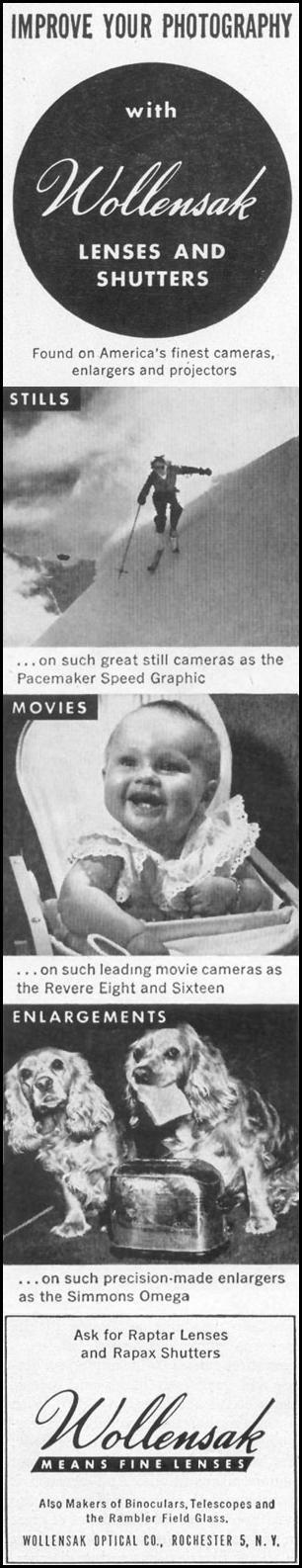 RAPTAR LENSES & RAPAX SHUTTERS LIFE 10/11/1948 p. 90