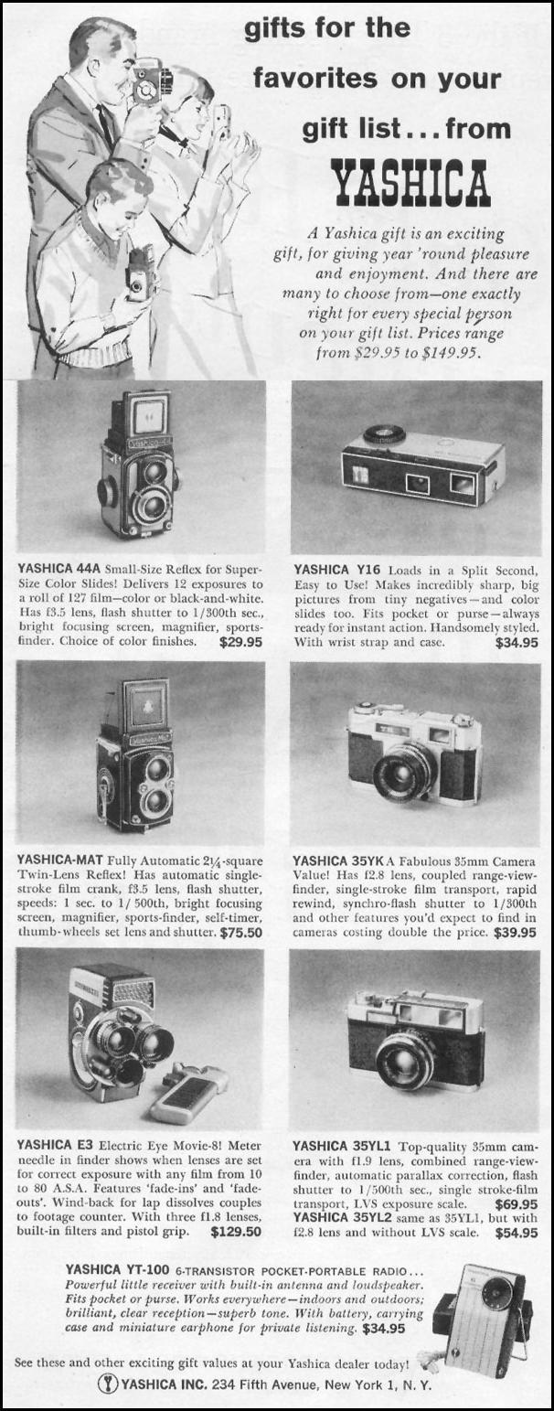 YASHICA CAMERAS LIFE 12/14/1959 p. 122