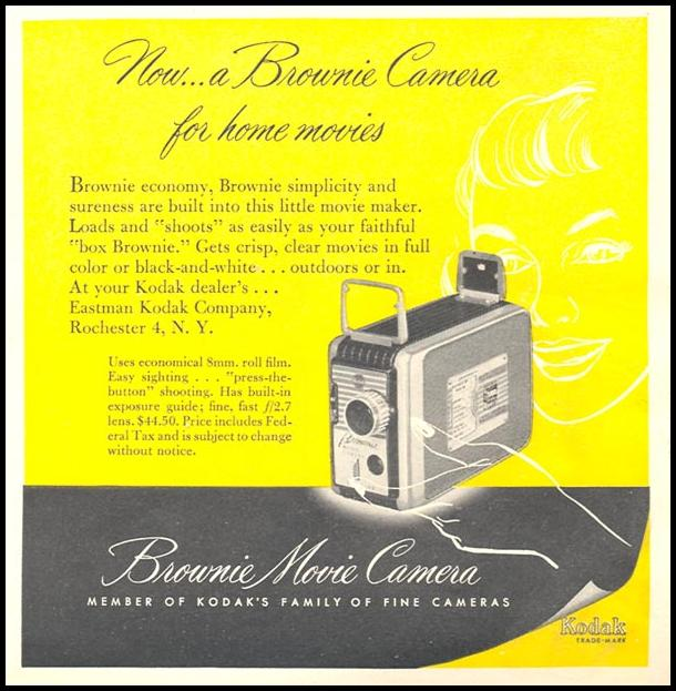 KODAK BROWNIE MOVIE CAMERA NEWSWEEK 09/03/1951 p. 37
