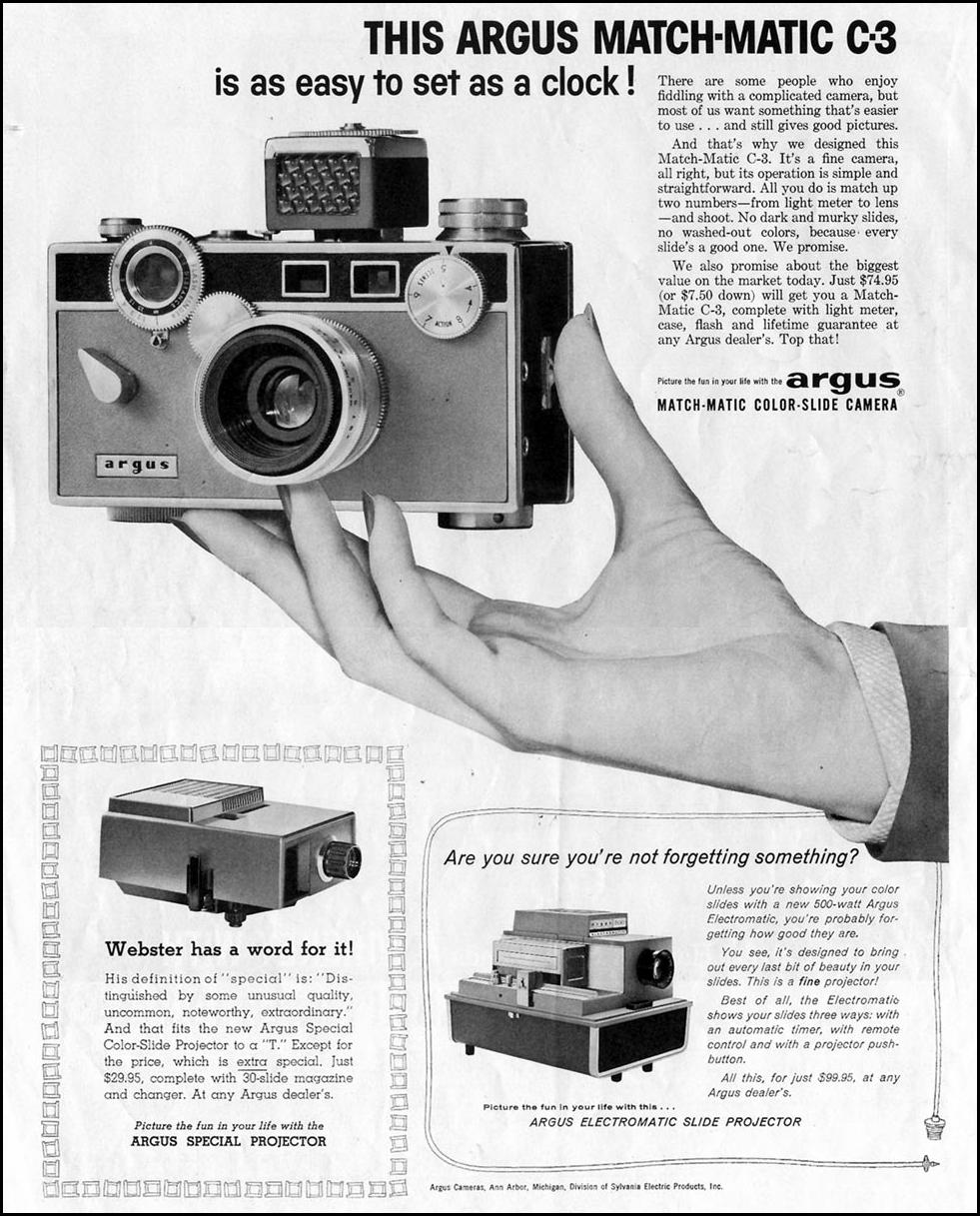 ARGUS CAMERAS SATURDAY EVENING POST 05/02/1959 p. 8