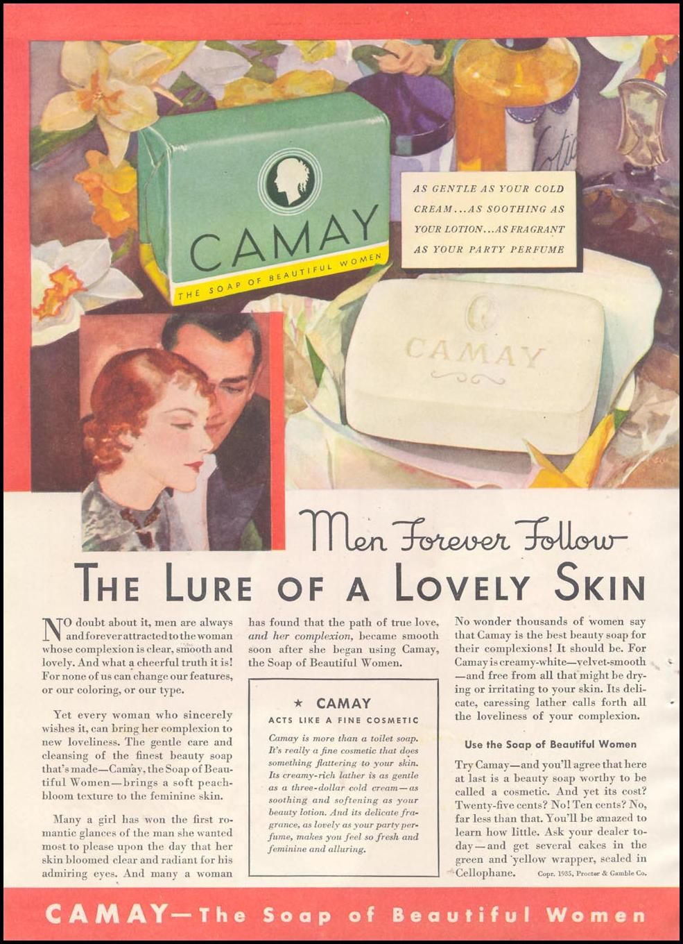 CAMAY SOAP GOOD HOUSEKEEPING 03/01/1935