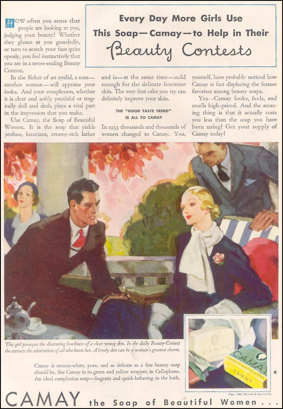 CAMAY GOOD HOUSEKEEPING 11/01/1933