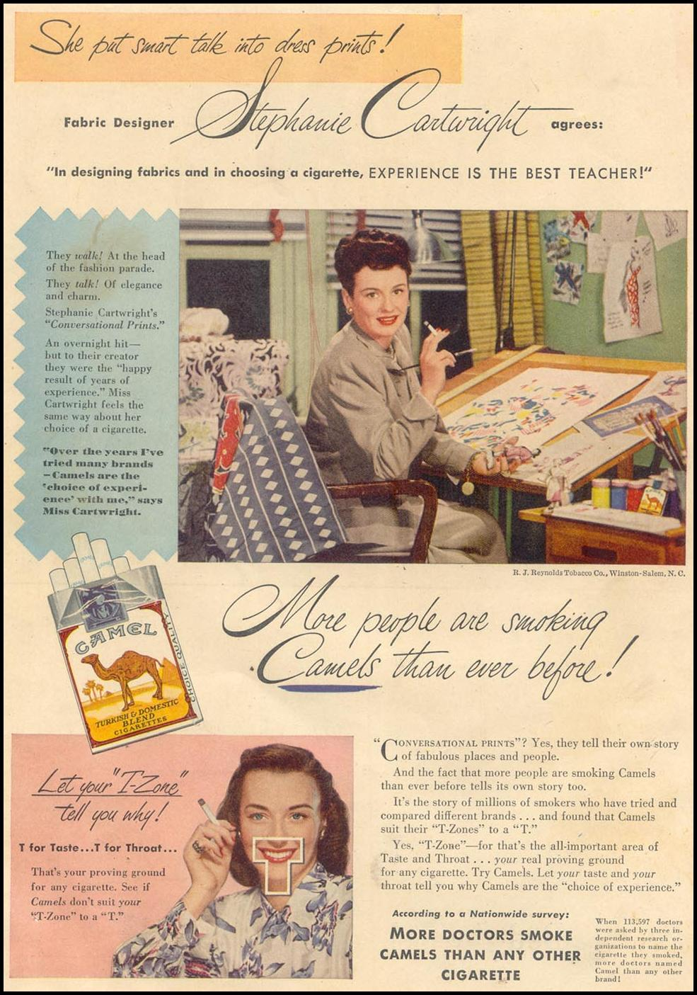 CAMEL CIGARETTES GOOD HOUSEKEEPING 07/01/1948 BACK COVER