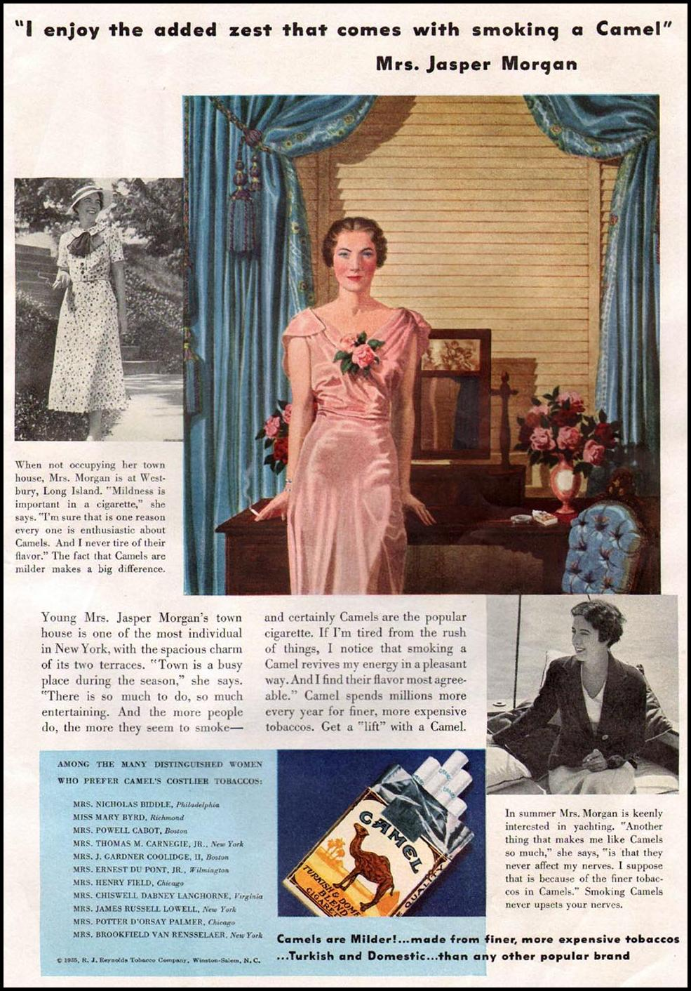 CAMEL CIGARETTES GOOD HOUSEKEEPING 12/01/1935 p. 141