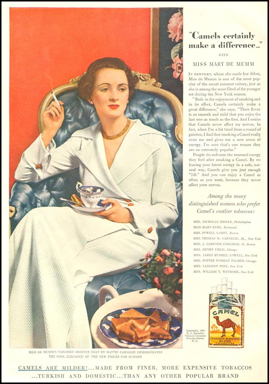CAMEL CIGARETTES GOOD HOUSEKEEPING 06/01/1935 p. 140