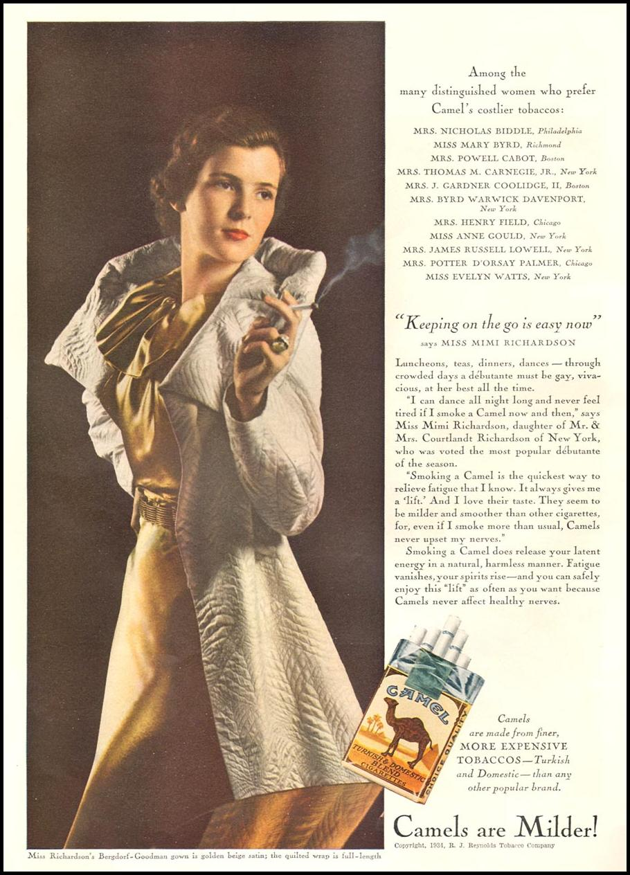CAMEL CIGARETTES GOOD HOUSEKEEPING 12/01/1934