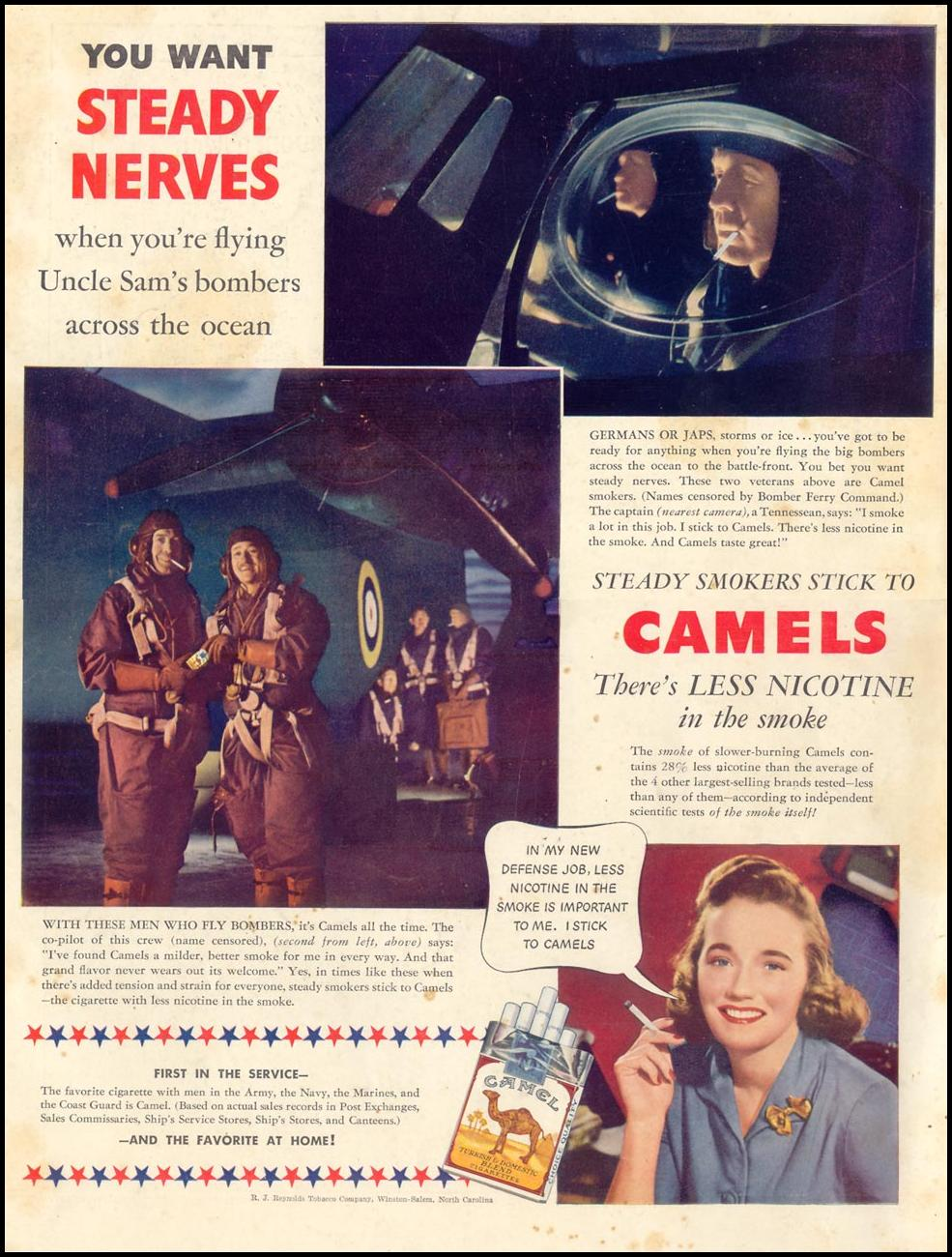 CAMEL CIGARETTES LIFE 08/09/1943 BACK COVER
