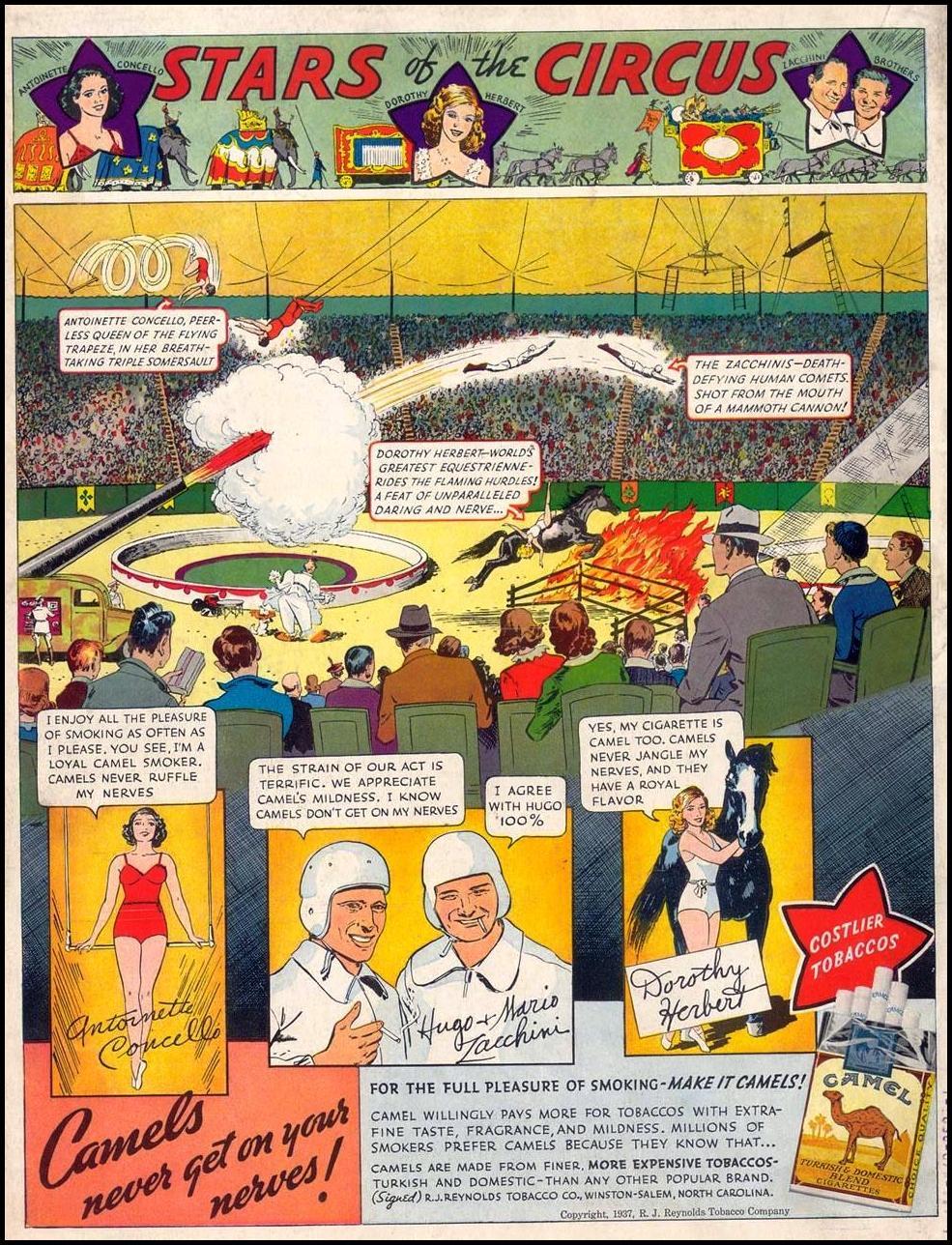 CAMEL CIGARETTES LIFE 09/13/1937 BACK COVER