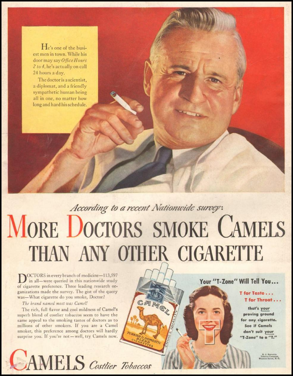 CAMEL CIGARETTES LIFE 11/25/1946 BACK COVER