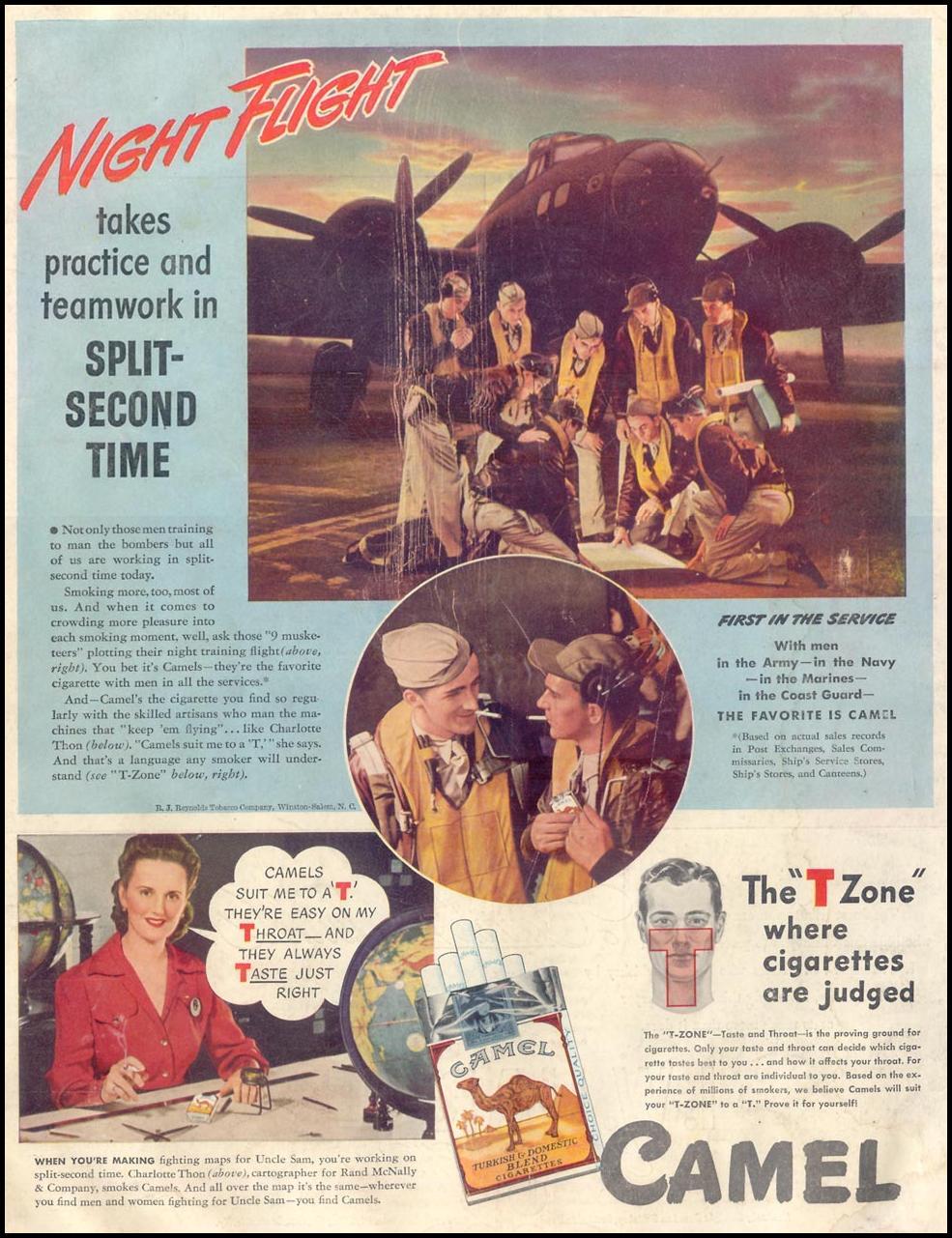 CAMEL CIGARETTES LIFE 11/30/1942 BACK COVER
