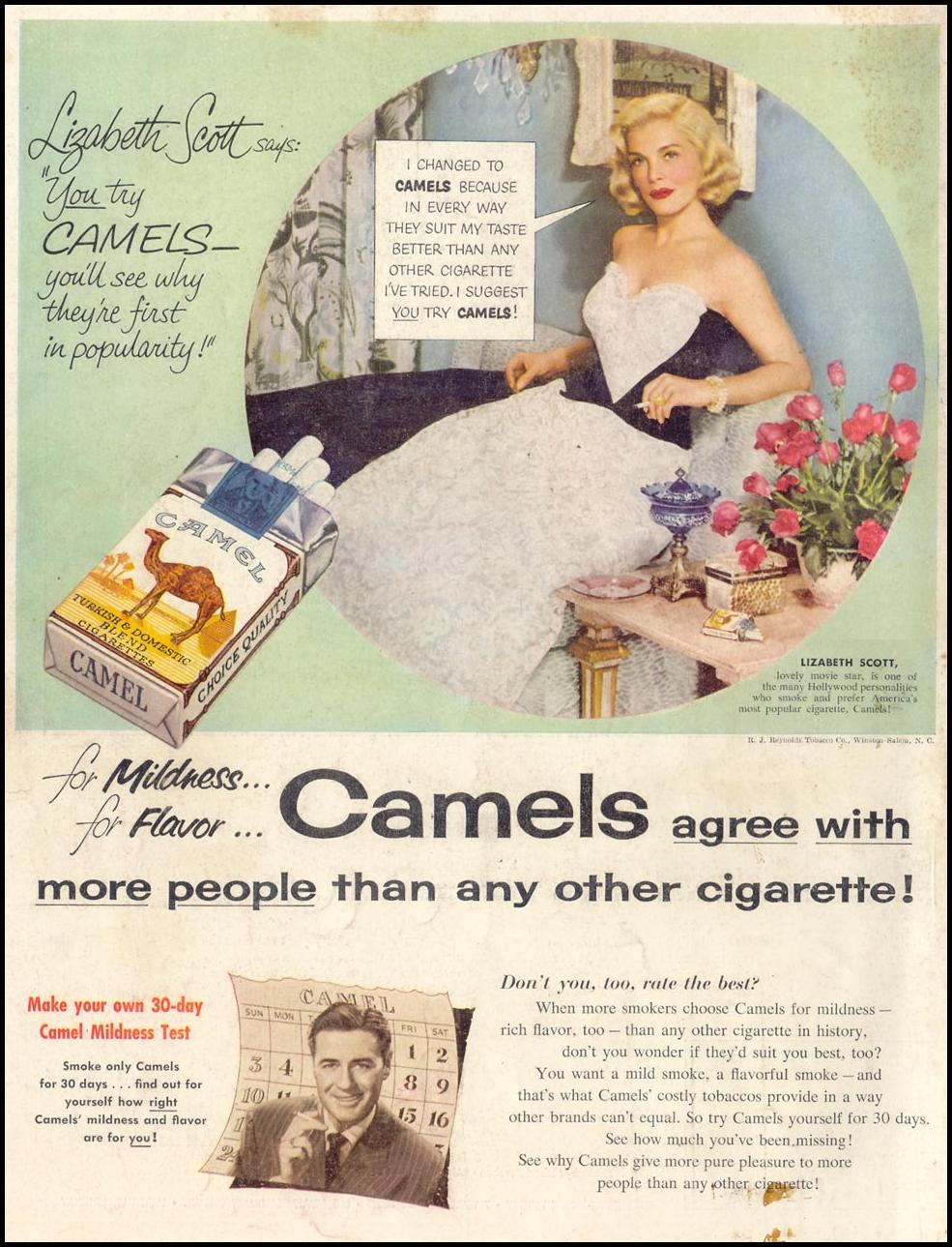 CAMEL CIGARETTES LIFE 11/30/1953 BACK COVER