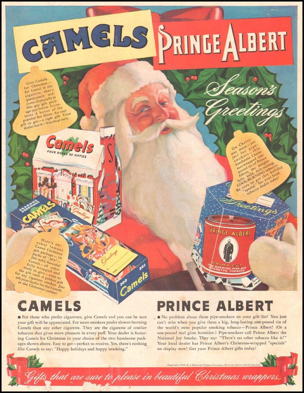 CAMEL CIGARETTES LIFE 12/16/1940 BACK COVER
