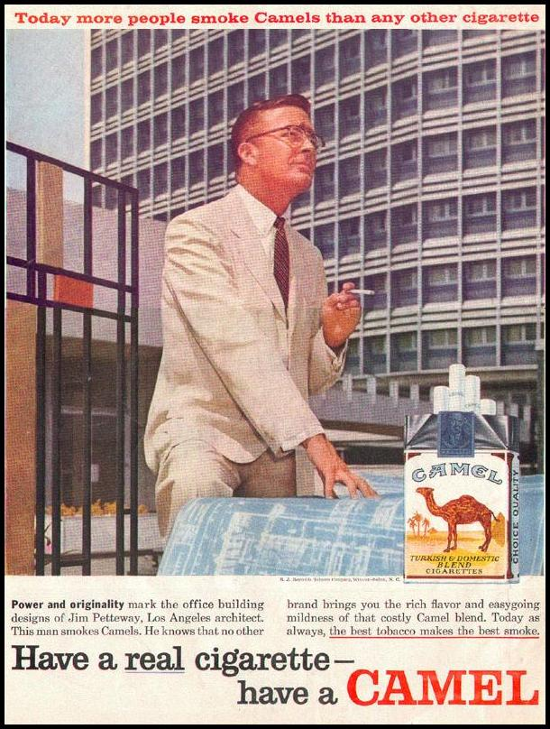 CAMEL CIGARETTES LOOK 09/16/1958 BACK COVER