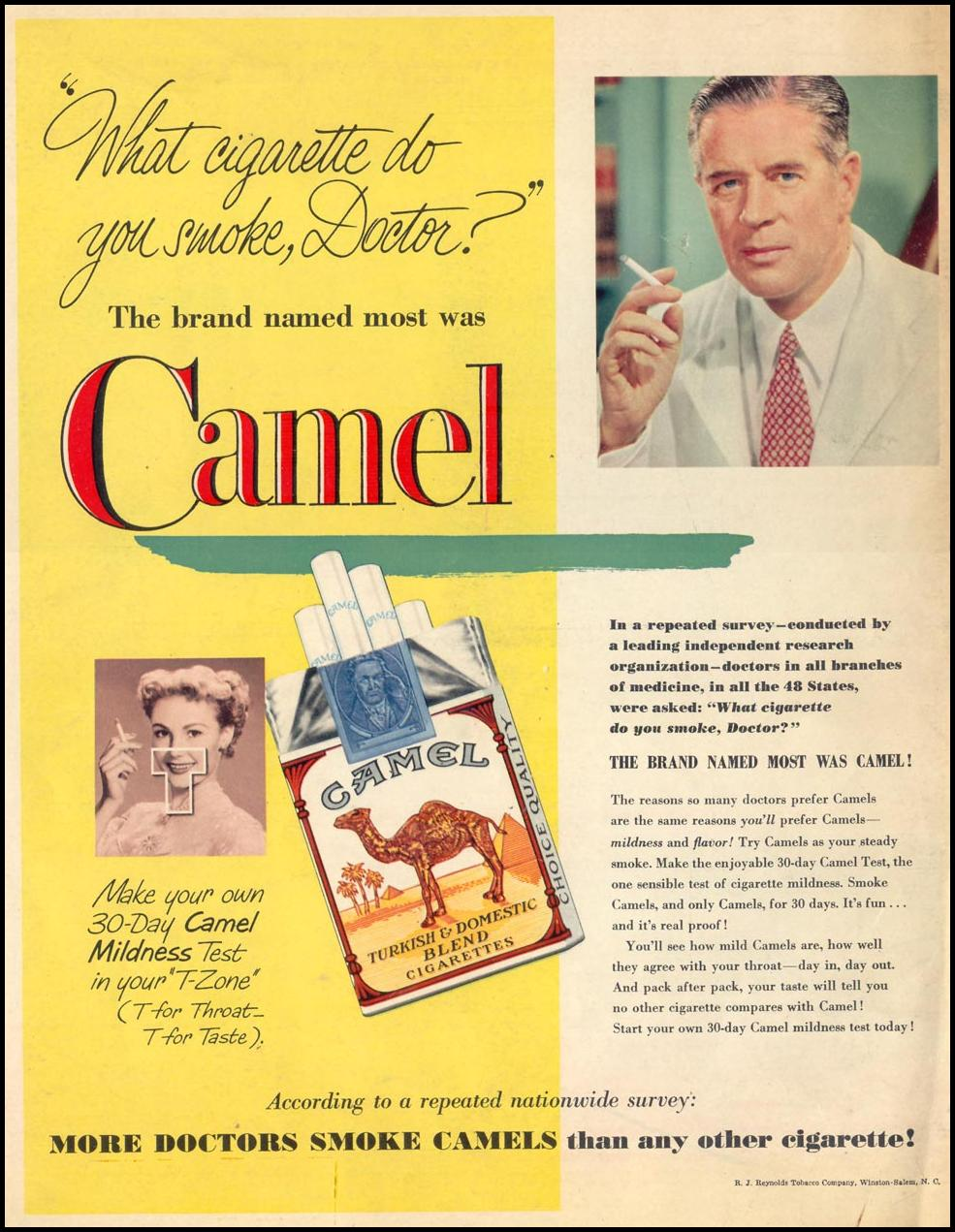 CAMEL CIGARETTES LOOK 12/04/1951 BACK COVER
