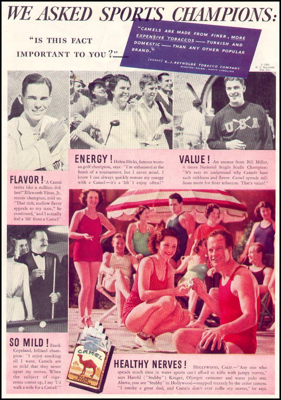 CAMEL CIGARETTES NEWSWEEK 05/04/1935 BACK COVER