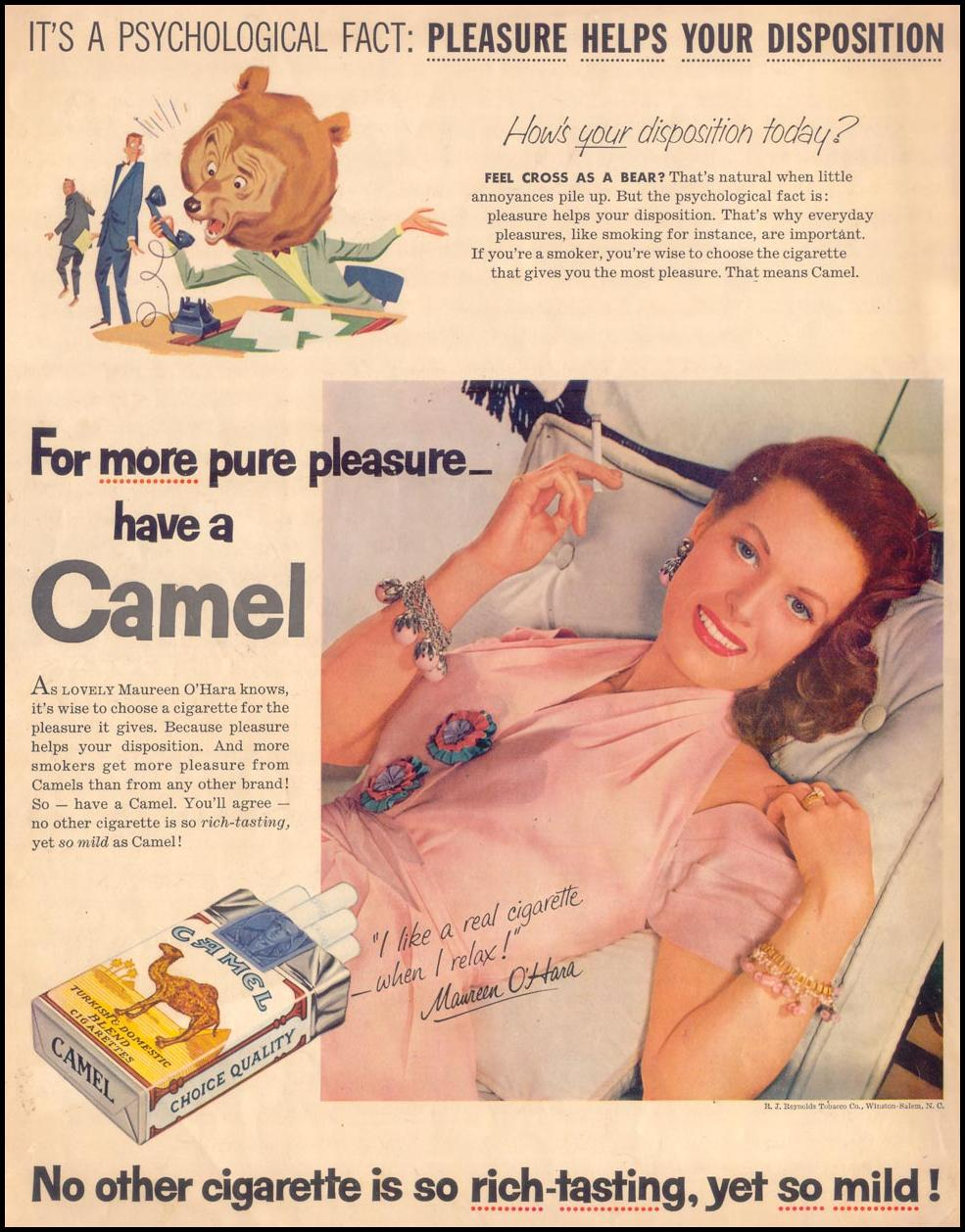 CAMEL CIGARETTES SATURDAY EVENING POST 07/23/1955 BACK COVER