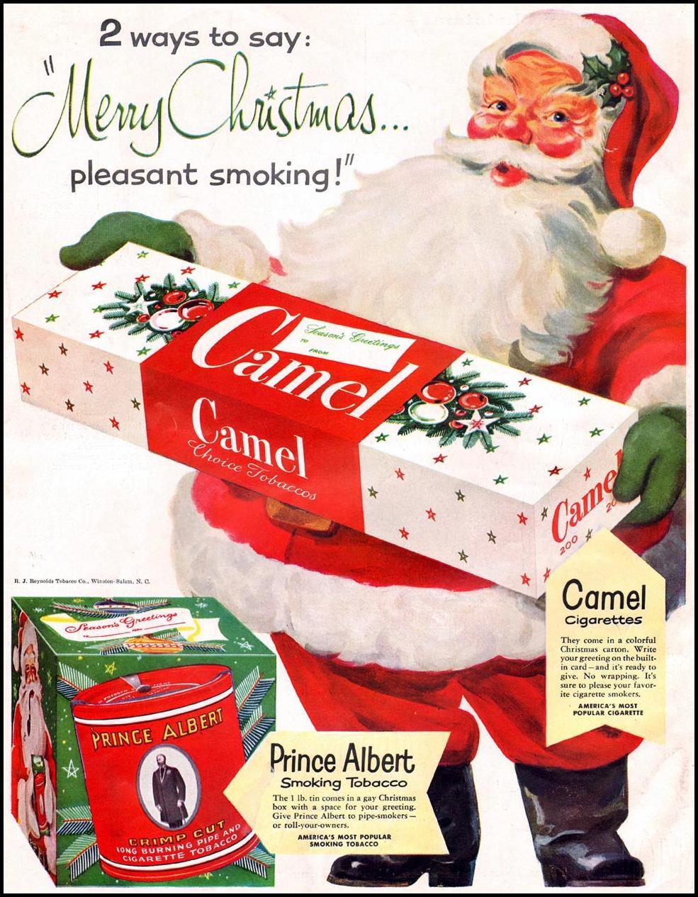 CAMEL CIGARETTES WOMAN'S HOME COMPANION 12/01/1952 BACK COVER