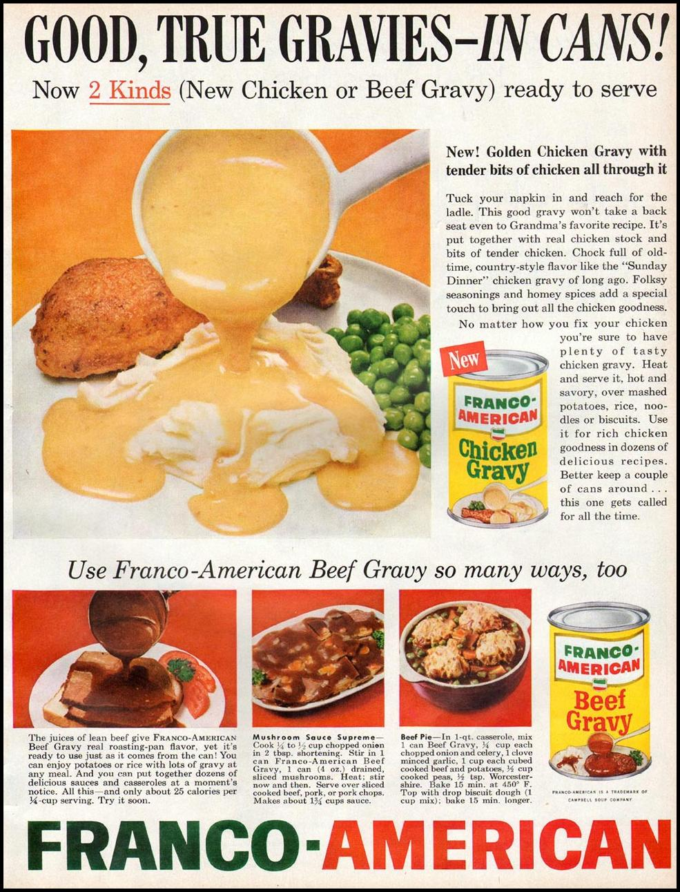 FRANCO-AMERICAN GRAVIES BETTER HOMES AND GARDENS 03/01/1960