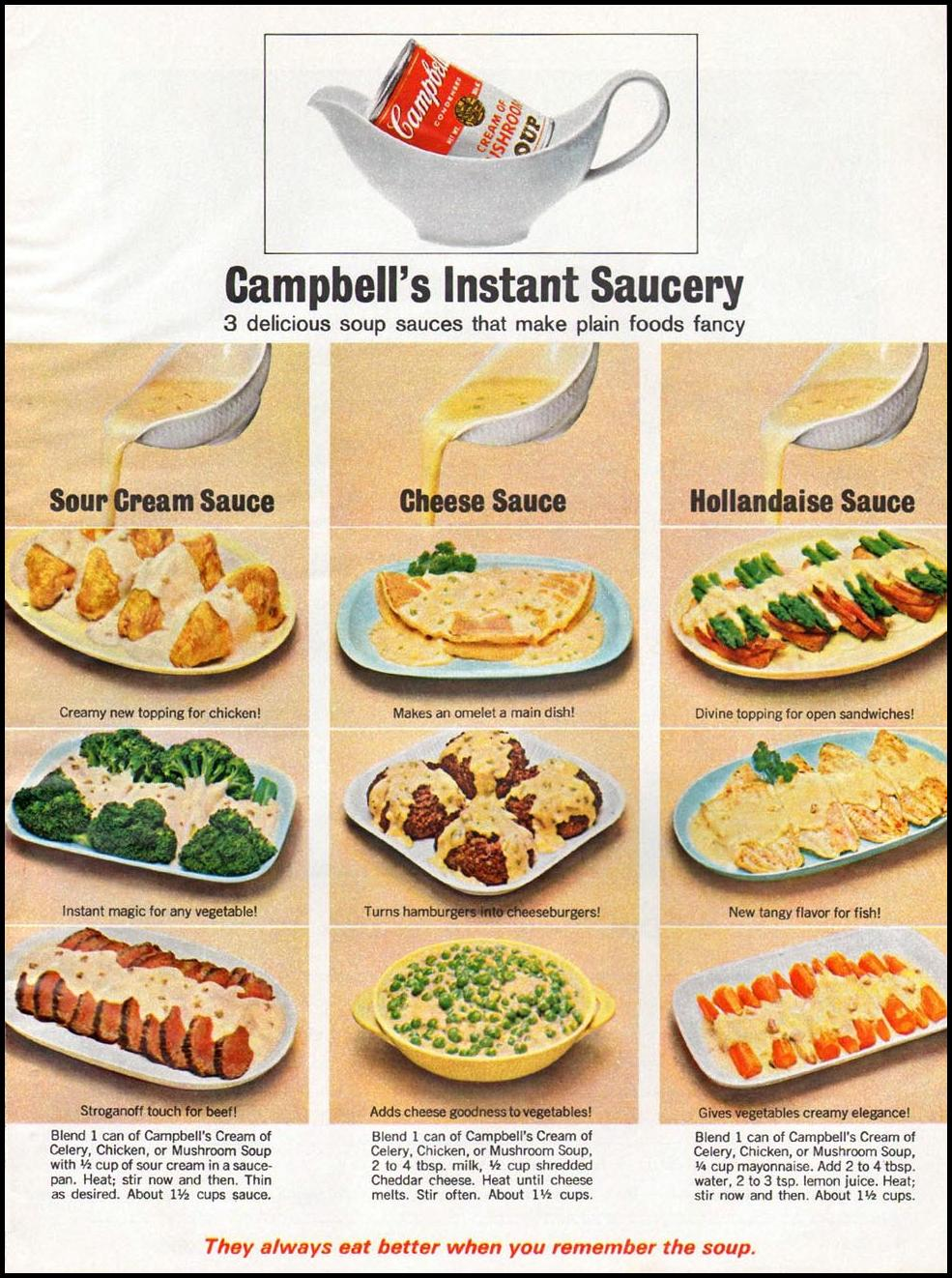 CAMPBELL'S SOUPS GOOD HOUSEKEEPING 10/01/1965 p. 137