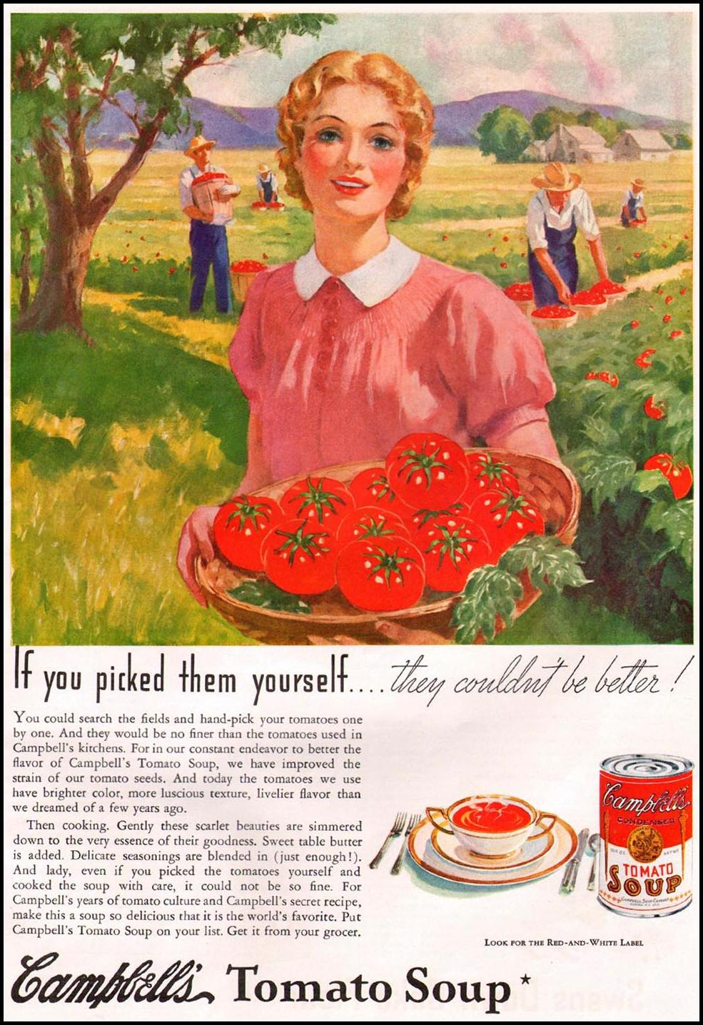 CAMPBELL'S TOMATO SOUP GOOD HOUSEKEEPING 12/01/1935