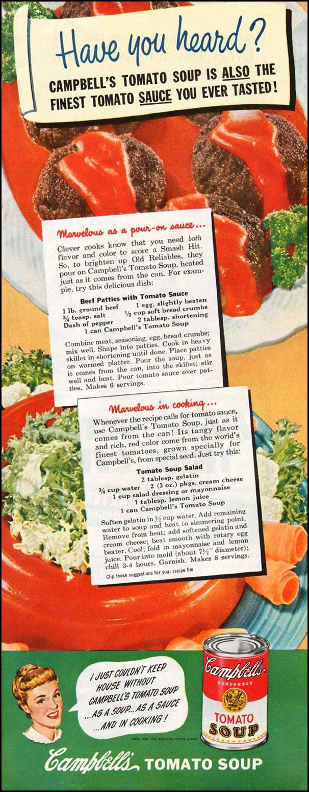 CAMPBELL'S SOUPS LADIES' HOME JOURNAL 07/01/1949 p. 139