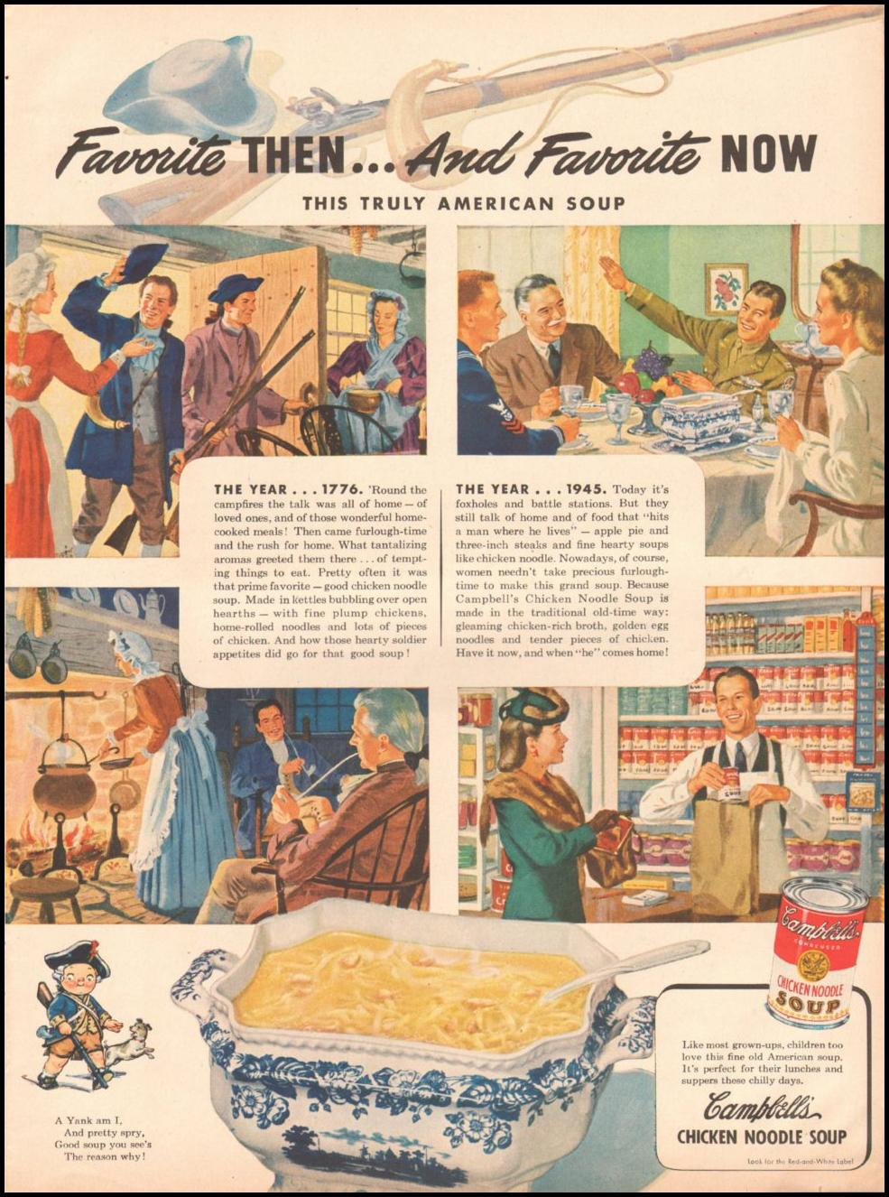 CAMPBELL'S CHICKEN NOODLE SOUP LIFE 03/12/1945
