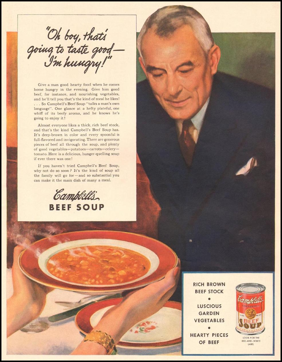 CAMPBELL'S BEEF SOUP LIFE 04/28/1941 p. 46