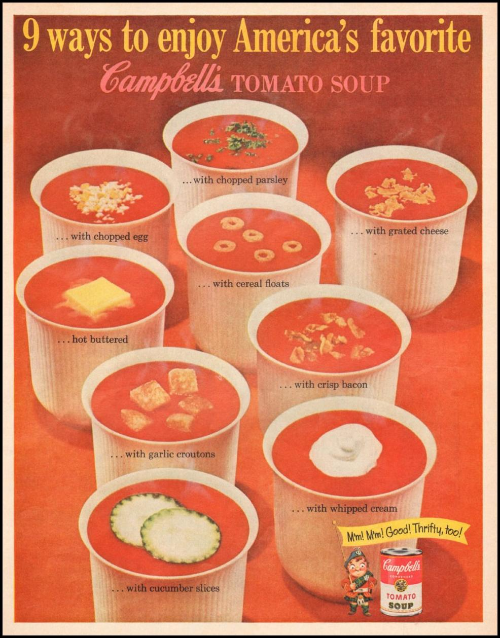 CAMPBELL'S TOMATO SOUP LIFE 05/05/1961