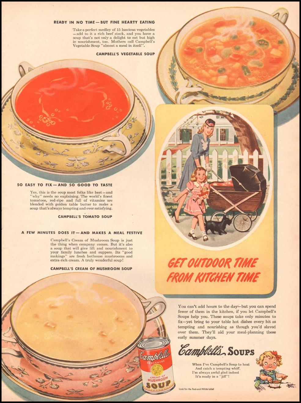 CAMPBELL'S SOUPS LIFE 06/04/1945 p. 37