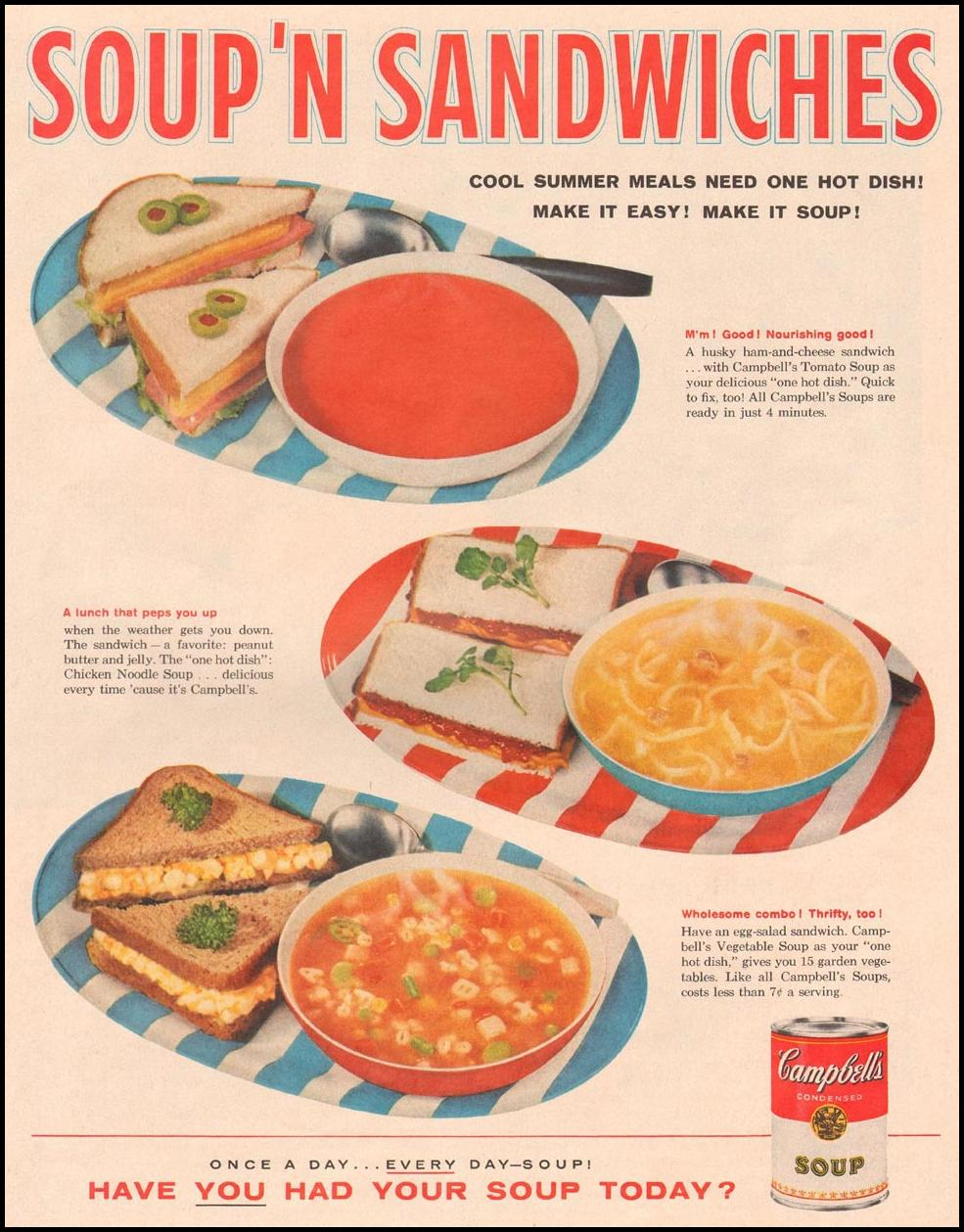CAMPBELL'S SOUPS LIFE 08/10/1959