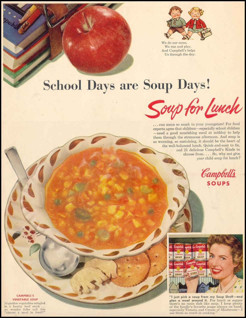 CAMPBELL'S SOUPS LIFE 09/07/1953 p. 33